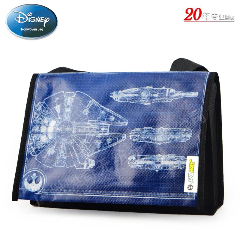 迪士尼STAR WARS星球大战7电影无纺布覆膜袋广告宣传袋礼品袋Subway meal bag