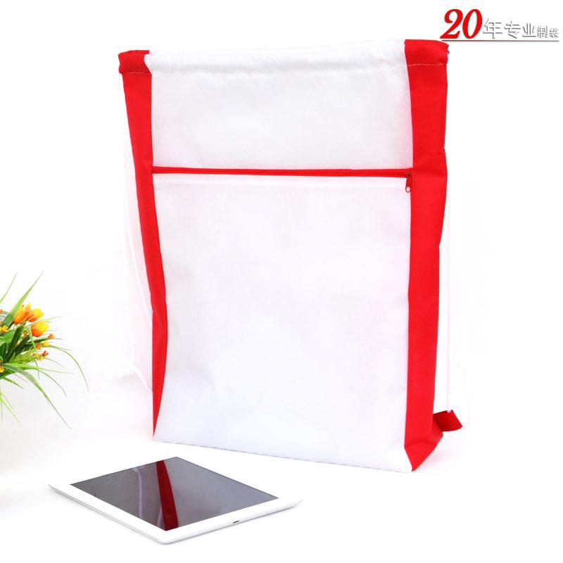 广州无纺布束口袋环保袋手提抽绳袋拉绳袋