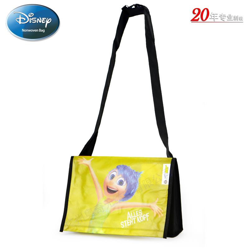 迪士尼Disney电影Inside Out无纺布覆膜袋Subway Bag广告礼品袋挎包袋