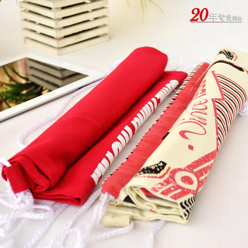 LA SALLE创意纯棉布袋索绳袋抽绳袋拉绳袋束口袋时尚背包袋礼品袋米袋