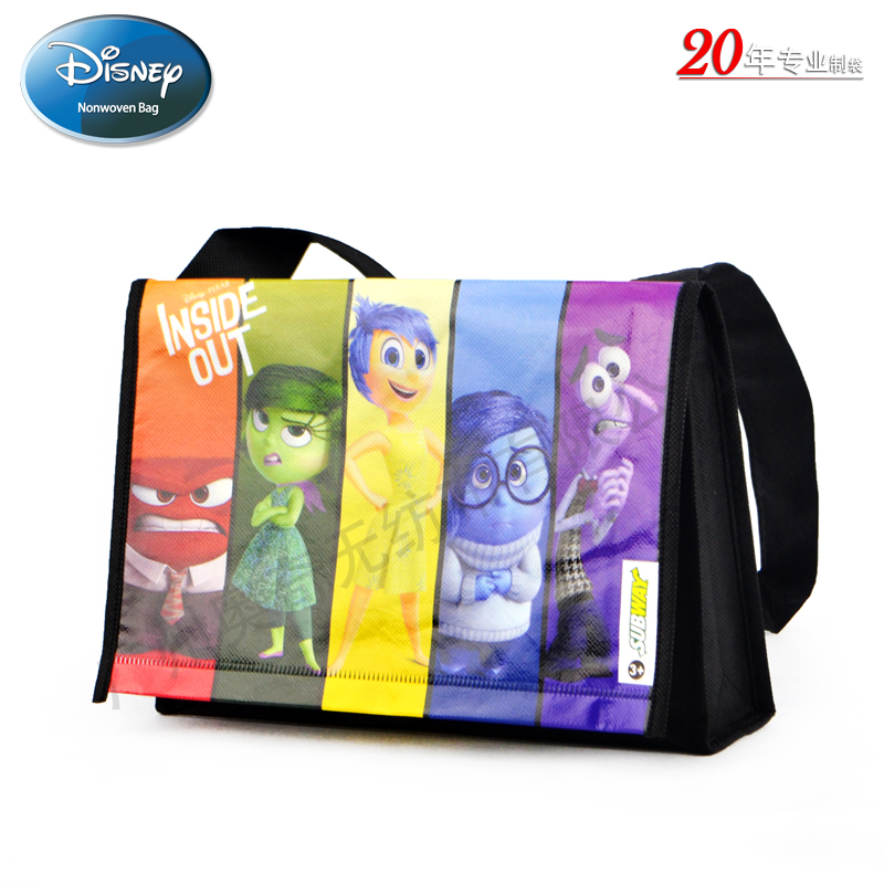 迪士尼卡通电影inside out无纺布覆膜袋Subway Meal Bag儿童礼品袋挎包袋