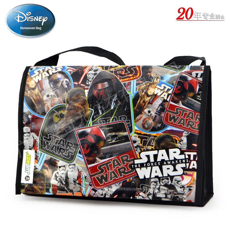 迪士尼STAR WARS7无纺布覆膜袋礼品袋单肩包Subway shoulder lunch bag
