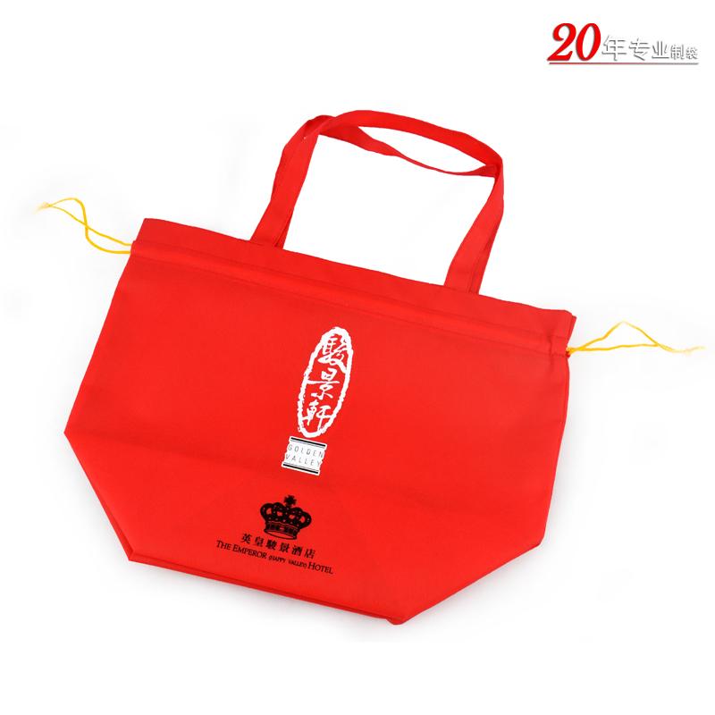 香港英皇骏景酒店无纺布礼品袋广告宣传袋底风琴袋广州无纺布袋厂家