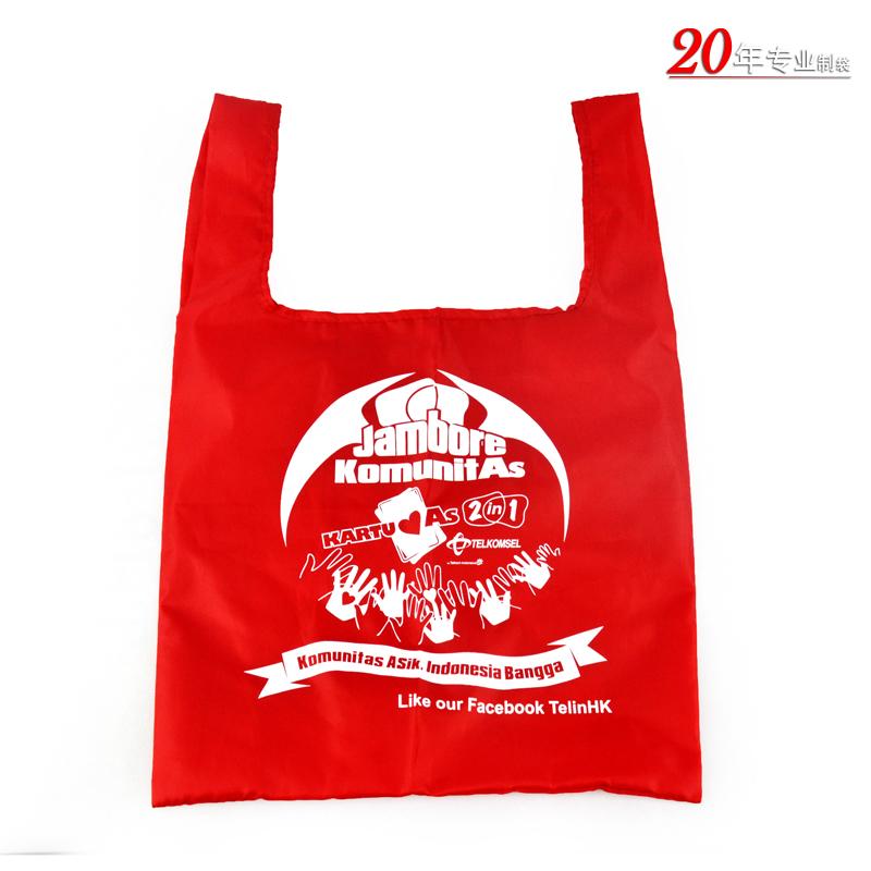 红色防水尼龙布袋牛津布袋礼品袋手提一体袋广州牛津布袋厂家