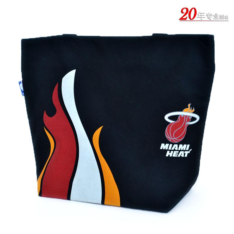 NBA专用时尚加厚黑色手提袋帆布袋礼品袋高档赠品袋