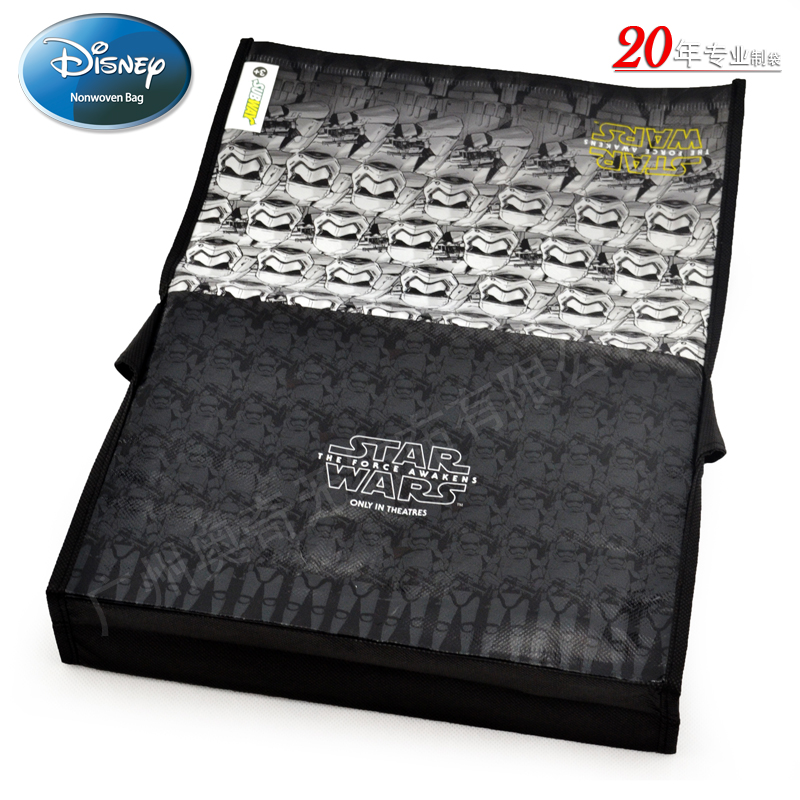 迪士尼STAR WARS7无纺布覆膜袋礼品袋Subway Bag FAMA证书工厂