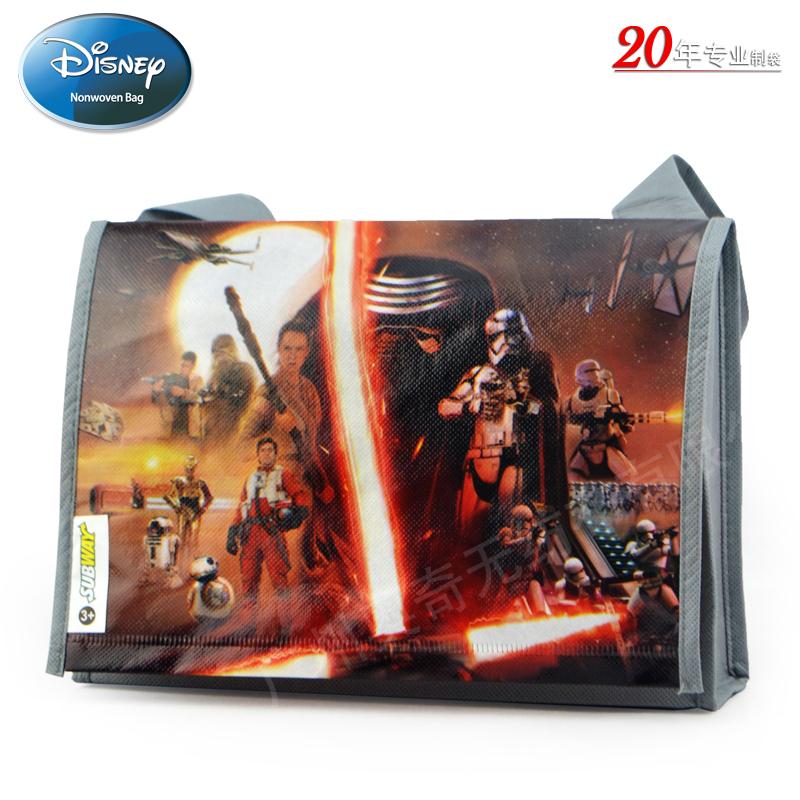 title='迪士尼覆膜袋无纺布袋礼品袋广告袋书包袋STARWARS7星球大战7电影'